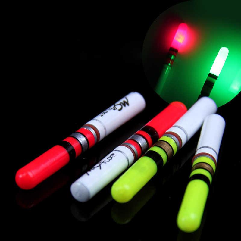 2 sztuk/partia światła kij zielony + czerwony Lightstick z CR322 baterii LED Luminous Float narzędzie nocne łowienie ryb Bobber akcesoria B137