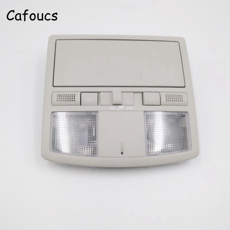 6 Cafoucs Overhead Console de Lâmpada Interior Do Carro Para Mazda 2007-2012 Luz De Leitura com Interruptor Teto Solar GS4A-69-970D-30