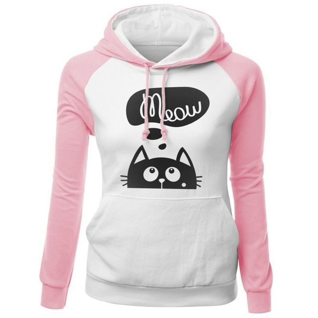 Women's Cute Cat Printed Sweatshirt