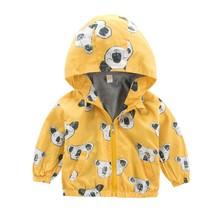 Baby Jackets Kids Boys Girls Outerwear Cartoon Hooded Coats