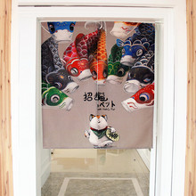 Lucky Cat Anese Decorative Door Curtains Fabric Cloth Cotton Home Screens Parion Bathroom Kitchen