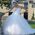Sexy de La Sirena de Tulle Vestidos de Novia de La Novia Vestido Con El Cristal Mermaid Wedding Dress Beads Custom