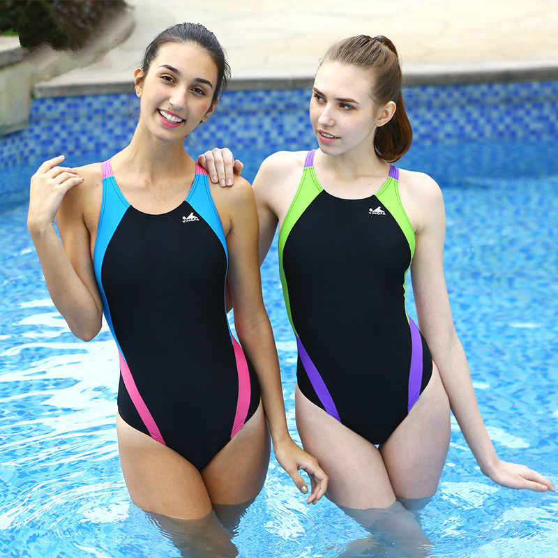 Professional Quick Dry Contest Swimwear Women Girls ...