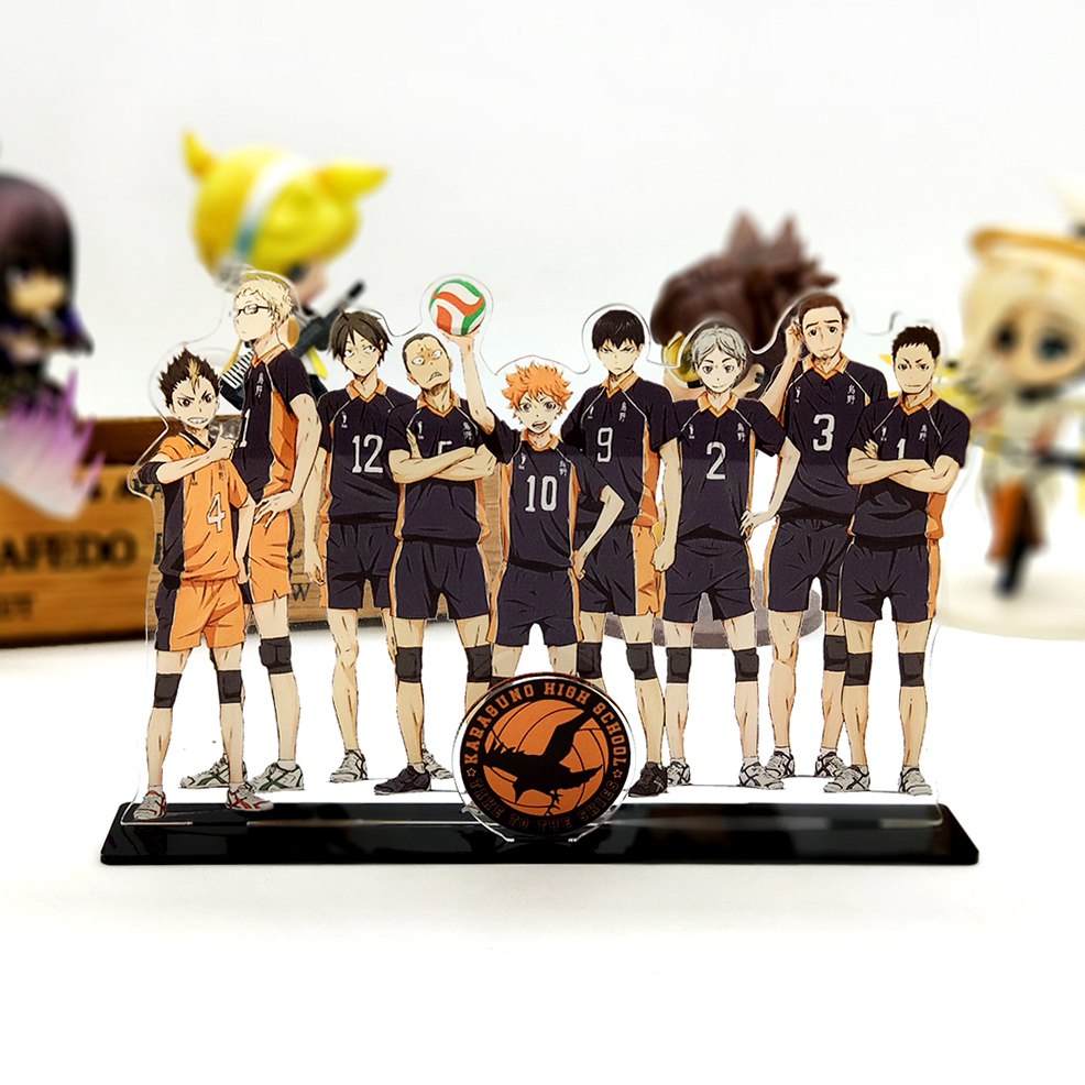 Love Thank You Haikyuu Hinata Kageyama Tsukishima Sugawara Family Acrylic Stand Figure Model Plate Holder Topper Anime Karasuno