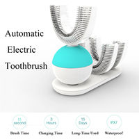Automatic Electric Tooth Toothbrush Wireless Charging with U Shape Design