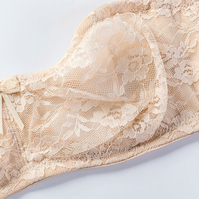Sexy Mesh Sheer Floral Lace No Padding Strapless Bra 4