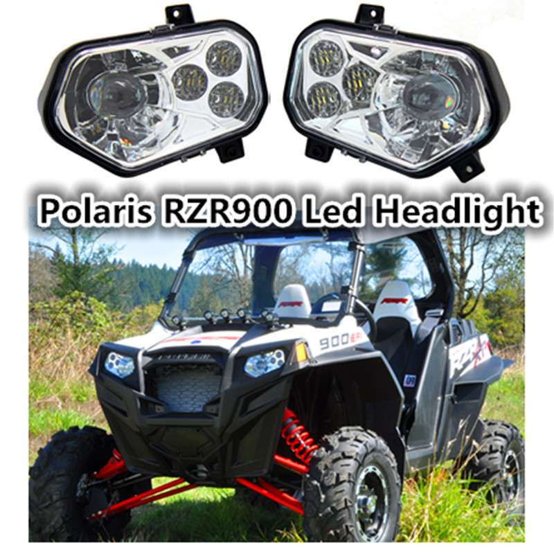 Polaris Chrome RZR900 ATV UTV accessories Led Headlight Headlamp kit 2012 2013 Polaris Ranger Side X Sides / Polaris Sportsman brake pads set for polaris atv 900 ranger rzr xp efi 2012 2013 2014 2015 900 rzr xp4 900 2013 2014 2015