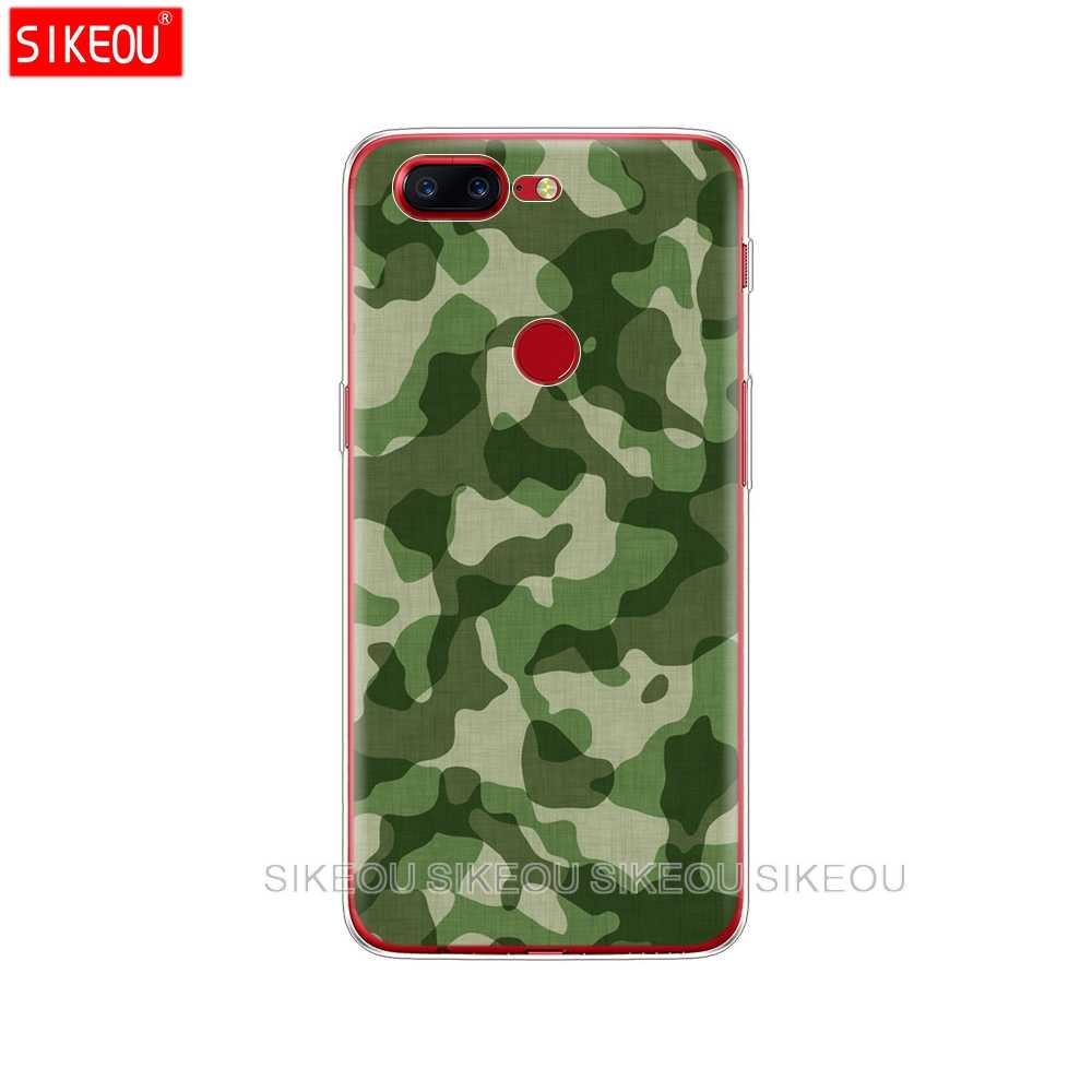 Funda de silicona para teléfono para Oneplus One Plus 6 T 6 5 T 5 3 A3000 A5000 funda para 1 + camuflaje militar fresco 6 T