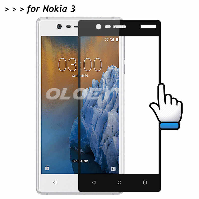 For Nokia 3 Full Cover Screen Protector 9H Tempered Glass Protective Film On Nokia3 TA-1020 TA-1032 TA 1020 1028 1032 1038 5.0""