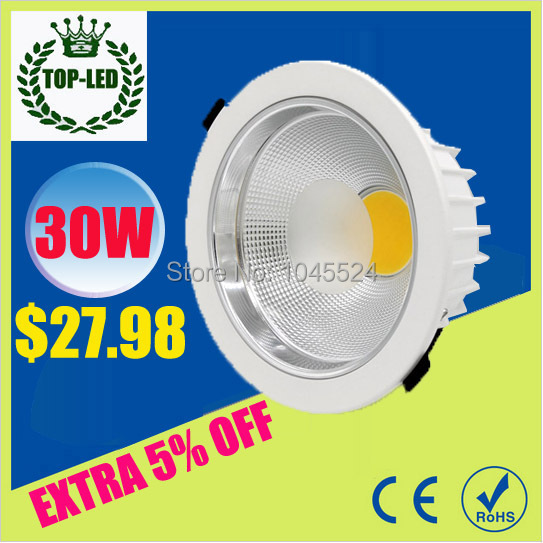 Genteel Led Downlight Dimmable Cob 5w 7w 10w White Body Full Aluminum With Driver 110v 220v For Home Store Office Hotel Light Perfect In Workmanship Lights & Lighting