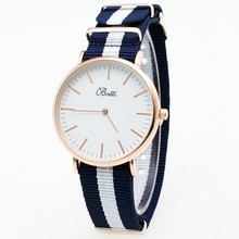 Luxury Brand Rose Gold Silver Men Women Watches Leather Nylon Quartz Wrist Watch Unisex Clock Relogio Masculino YBOTTI