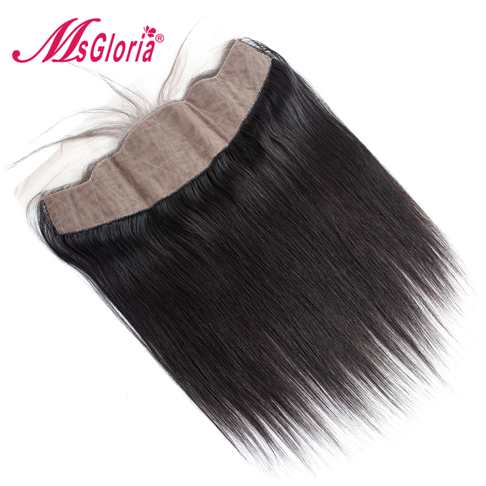Msgloria Straight Silk Base Lace Frontal Closure With 13X4 Silk Top With Baby Hair 8 20