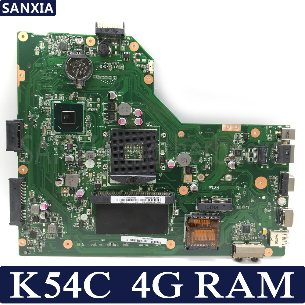 KEFU K54C Laptop Motherboard For ASUS K54C X54C K54 Test Original Mainboard 4G RAM PGA989