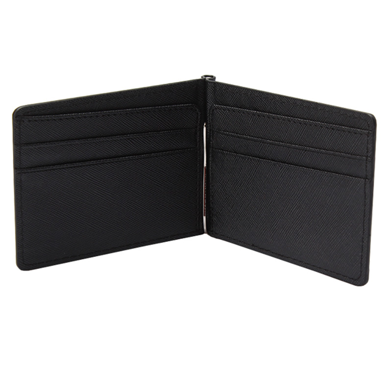KUDIAN BEAR Slim Men Money Clip Wallet Mental Solid Male Purses Designer I Clip Money Holder Card Cases-- BID213 PM49