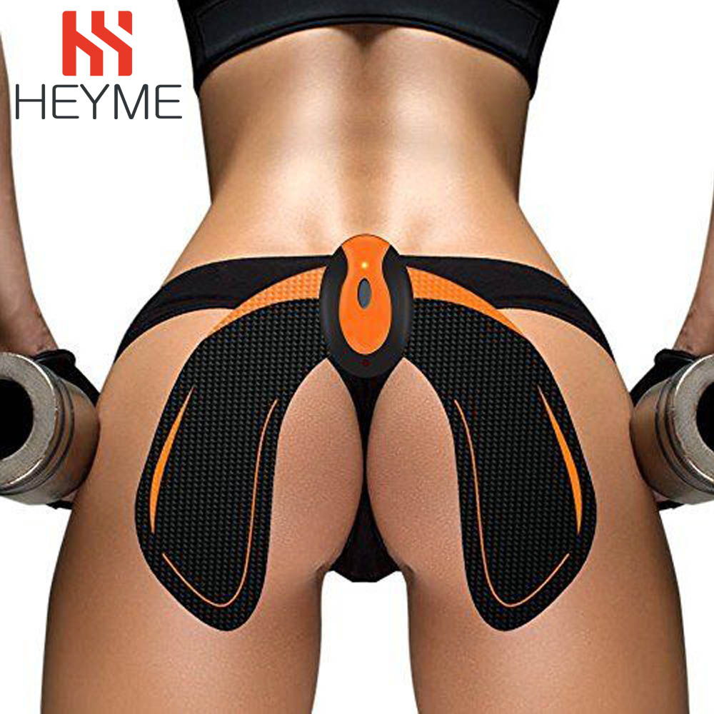 HEYME EMS Hips Trainer Remote USB Rechargeable Muscle Toner Stimulator Butt Lifting Buttock ABS Fitness Slimming Massager A ems hips trainer