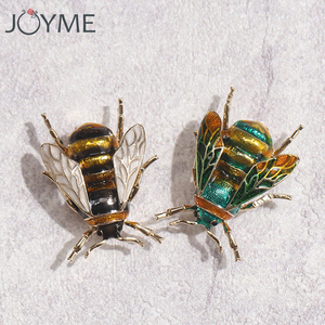 Fashion Cute Bee Black Yellow Enamel Insect Brooches For Women Kids Animal Brooch Jewelry Hijab Pins Party Gifts Accessories(China)