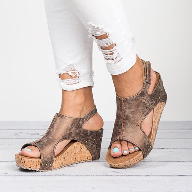 Sooneeya Comfortable Platform Woman Sandals Summer Fashion Gladiator Roman Shoes New 2018 Wedges Heels Shoes Plus Size 42 43