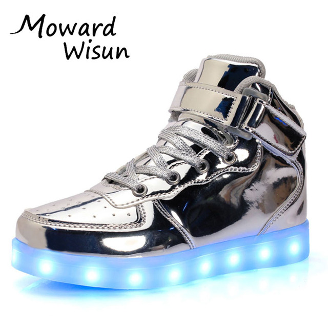 huge discount 31d5e 76b24 US $14.05 |Spansee Gute Qualität Kinder LED Schuhe mit Leuchten Schuhe für  Kinder Jungen Mädchen Leuchtende Leucht Turnschuhe Körbe LED Hausschuhe 30  ...