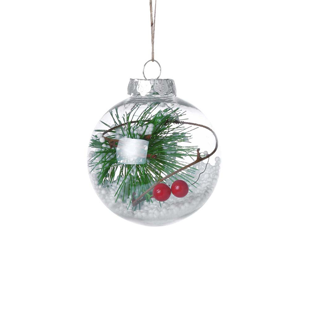 2018 Christmas Tress Decorations Ball Transparent Open