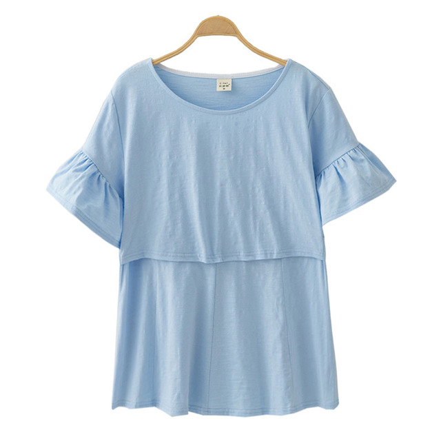 Cotton Maternity Clothing Breastfeeding Nursing Tops Pregnancy Shirt Clothes For Pregnant Women Plus Size Wear Summer 2019 New