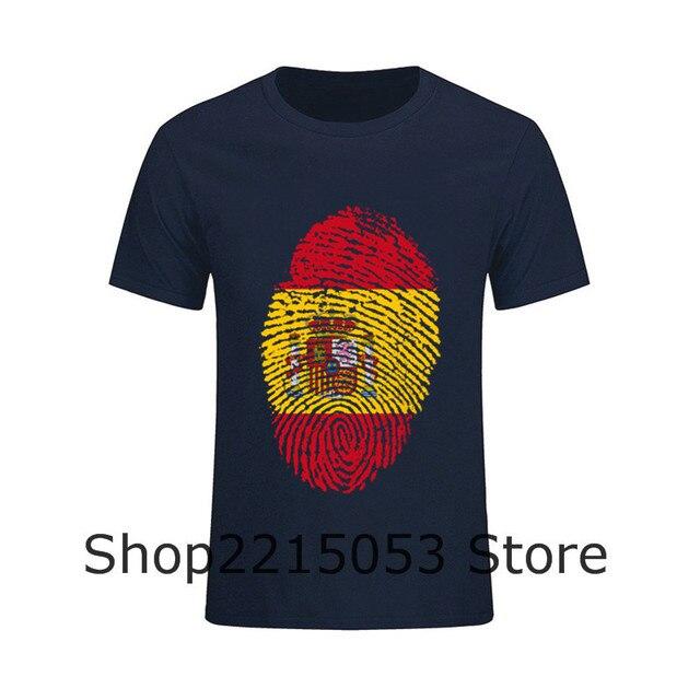 T-Shirt Dos Homens camiseta Espanha Bandeira Impressão Digital REAL  Juventude Crewneck TShirt Moda MASCULINA 14cf4dffb4845