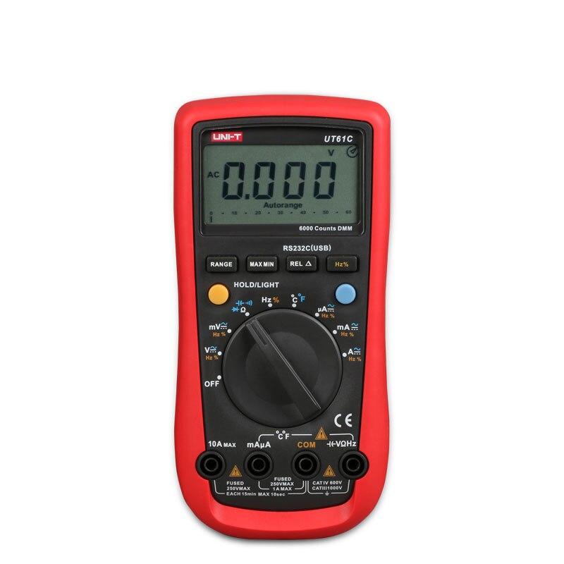 2016 UNI-T UT-61C Modern Digital Multimeters UT61C AC DC Meter мультиметр uni t uni t ut71b alicate amperimetro ac dc