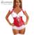 Corte de cuero rojo mujeres sexy lingerie inicio Bustier corsés cuerpo ramillete traje más tamaño arnés de underbust bustier cuerpo