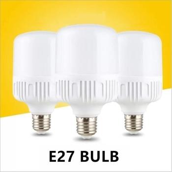 LED Bulb Lamps E27 220V-240V Light Bulb Smart IC  Power 5W 10W 15W 20W 30W 40W 50W High Brightness Lampada LED Bombillas цена 2017