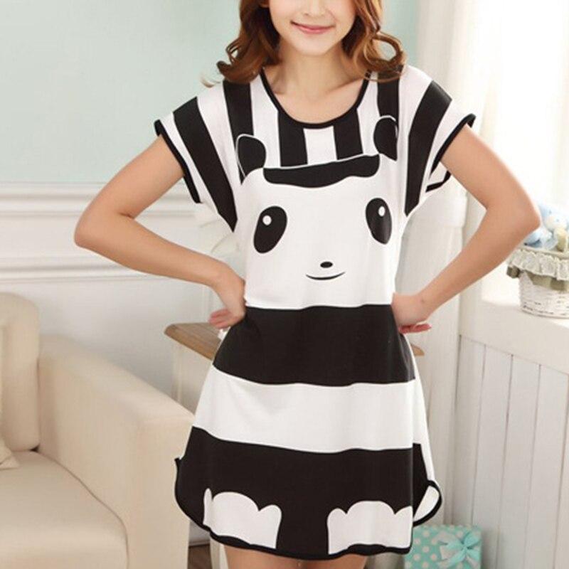 2018 Womens   Nightgowns   New Cotton Nightwear Summer Dress Casual Loose Nightdress Female Night Shirt Women Sleepwear   Sleepshirt