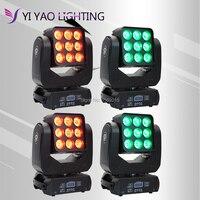 4 unids/lote se 9x12w luz Gobo led dmx 512 DE control DE mini dj diso cabezales móviles|Efecto de iluminación de escenario| |  -