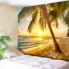 Beach Sun Sea Psychedelic Tapestry Large Wall Hanging Carpet Boho Decor Hippie Tapestries Mandala Art