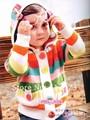 Hot otoño, invierno 1-4yrs niños de la raya ropa de abrigo precioso arco iris infantil/gilrs del bebé suéter de los niños Freeshipping