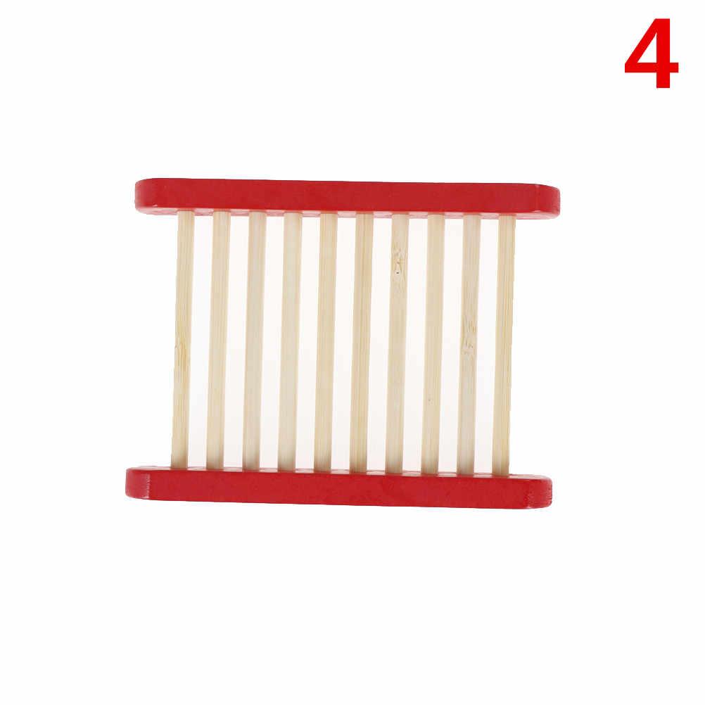 Naturalne drewniane/mydło bambusowe tacka stojak do przechowywania mydła płyta Box pojemnik metalowy mydelniczka wanna prysznic łazienka Acc