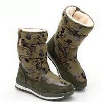 Winter Children Snow Boots Warm Wool Plush Girls Martin Boots 30 degree Army CAMO Boys Shoes Waterproof Kids Boots