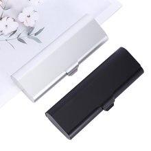 Gafas de Metal duro mate, lentes de protección de color negro y plateado, estuche de viaje portátil, caja de soporte para regalos, 1 Uds.