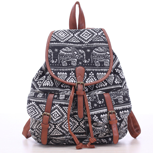 2015 high quality tribal canvas aztec backpack rucksack bag ...