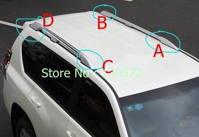 Para a Toyota PRADO FJ150 2700 4000 2010 2011 2012 13 14 + Rack De Teto Trilho Com Parafusos Telhado Suportes de Bagagem Bagagem cobrir