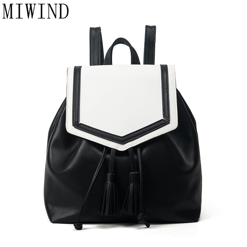 Fashion Backpack New Travel Bag Drawstring Backpack Women School Student Teenage Girl Mochila Escolar Women Backpack   TDY514 kai yunon women sparrow drawstring beam port backpack shopping bag travel bag aug 24