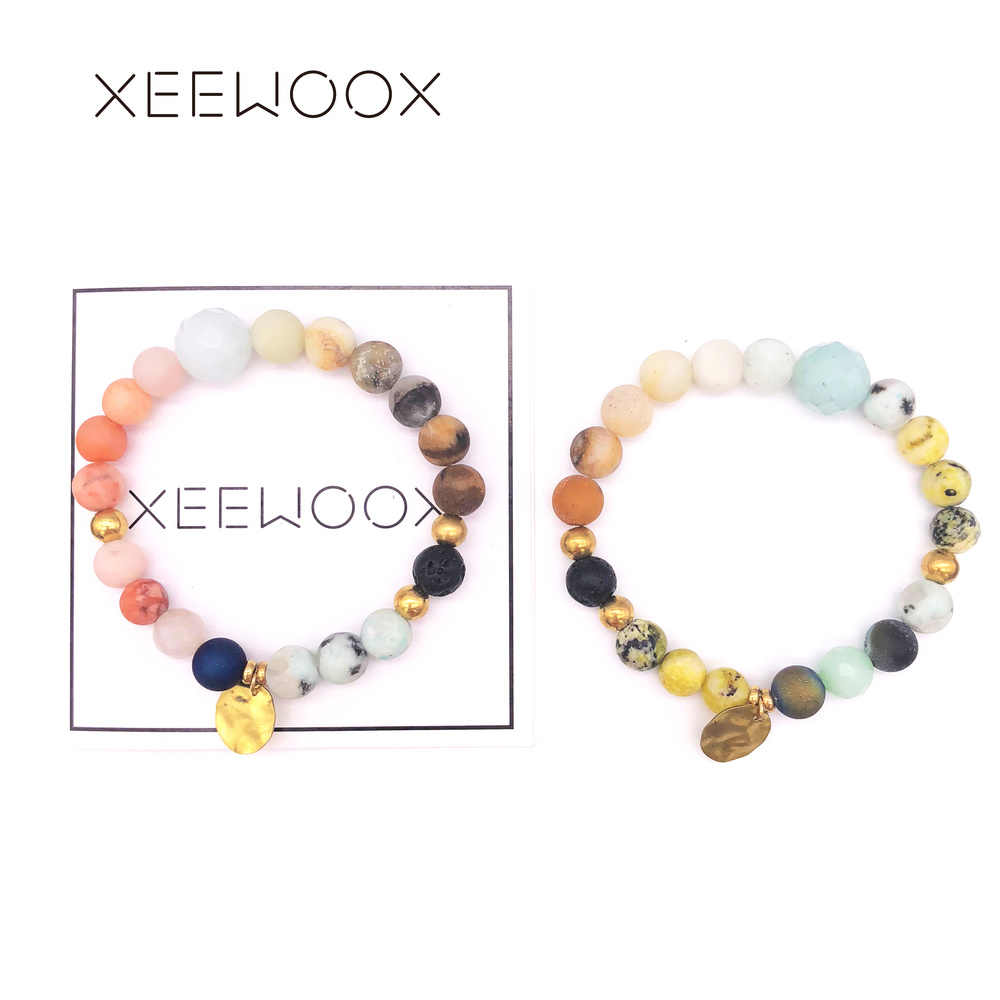 Natural Stone Bracelet For Women Couple Bead Bracelet Man Boho Gold Beads Bracelet Friendship Charm Gift 2019 New Custom