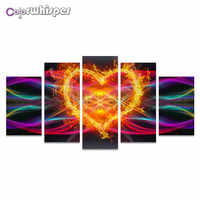 Diamond Painting Full Square/Round Abstract Flower Picture Mandala Pentaptych Daimond Picture Crystal Cross Stitch Mosaic 863