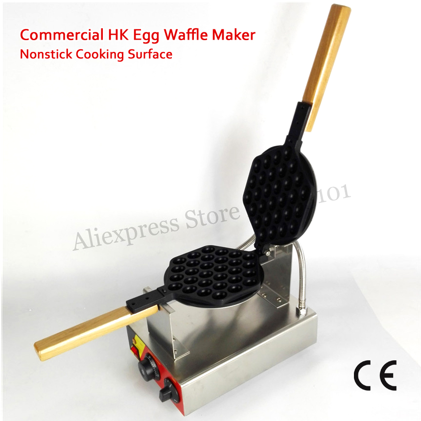 220V 110V Popular Dessert Eggette Waffle Machine Egg Waffle Puffle Cone Maker Nonstick Cooking Surface