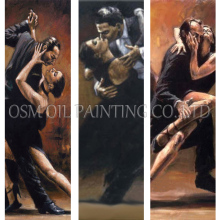 Skilled Artist Handmade High Quality Impression Dancer Oil Painting on Canvas Beautiful Spain Latin for Wall