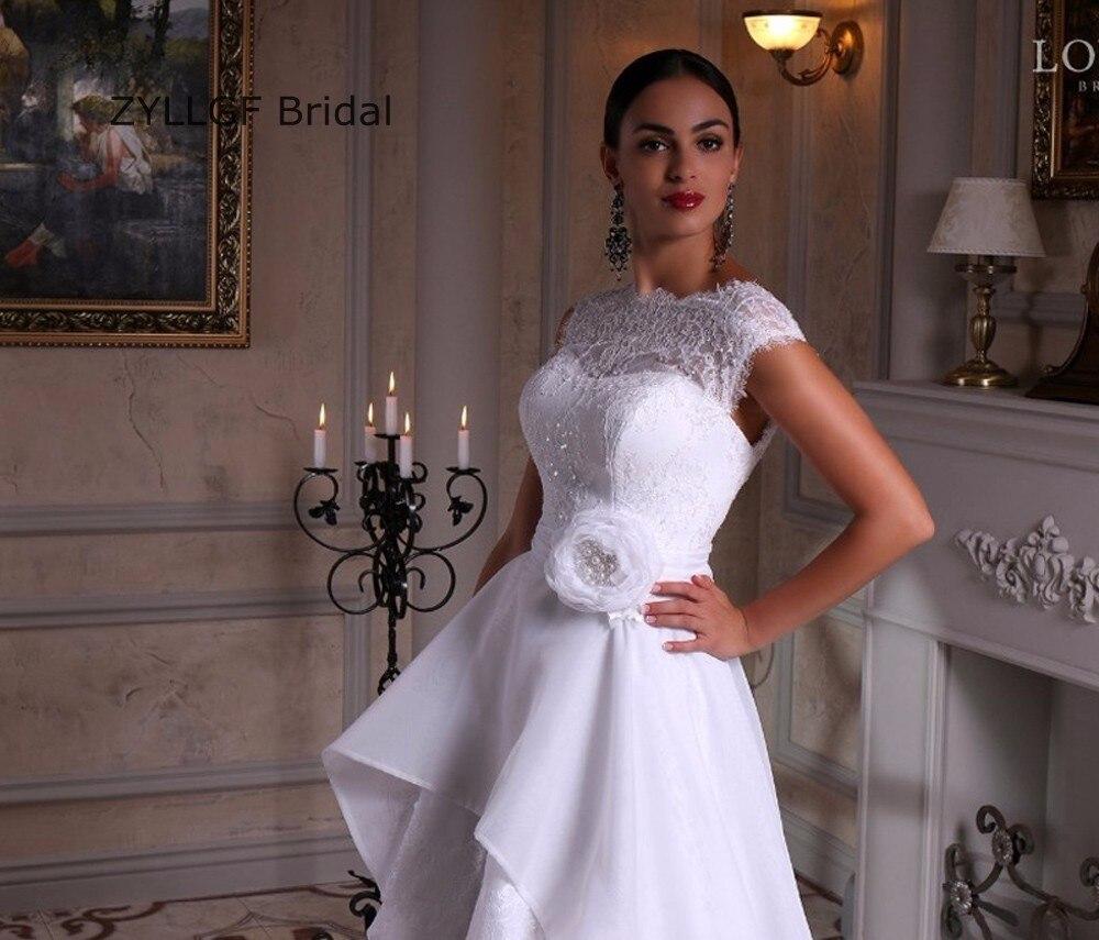 Braut Hoch Niedrige Rand Brautkleider Weiß Böhmischen Stil ...