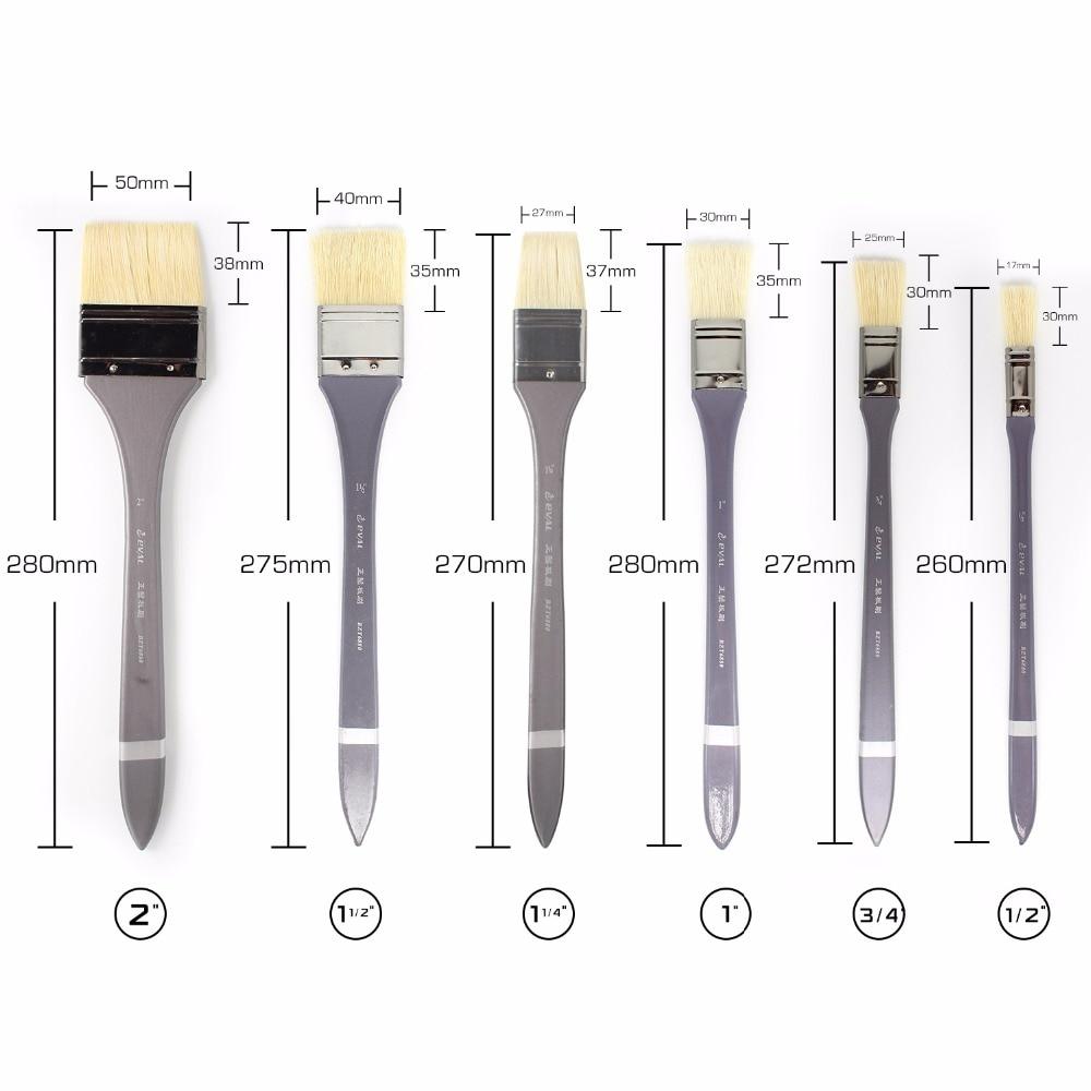 цена на Eval 1pc Artist Flat Bristle Hair Oil Paint Brush Graffiti tools Set For Acrylic Watercolor DIY Graffiti Brush Art Supplies