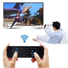 2.4G RF USB2.0 Wireless Mini Keyboard Gyroscope Fly Air Mouse Remote Controller for Mini PC Android TV Box