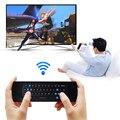 2.4G RF Wireless USB2.0 Teclado Giroscopio Aire Fly Ratón Control Remoto para Mini PC Android TV Box para Measy RC7 Mini Teclado L3FE