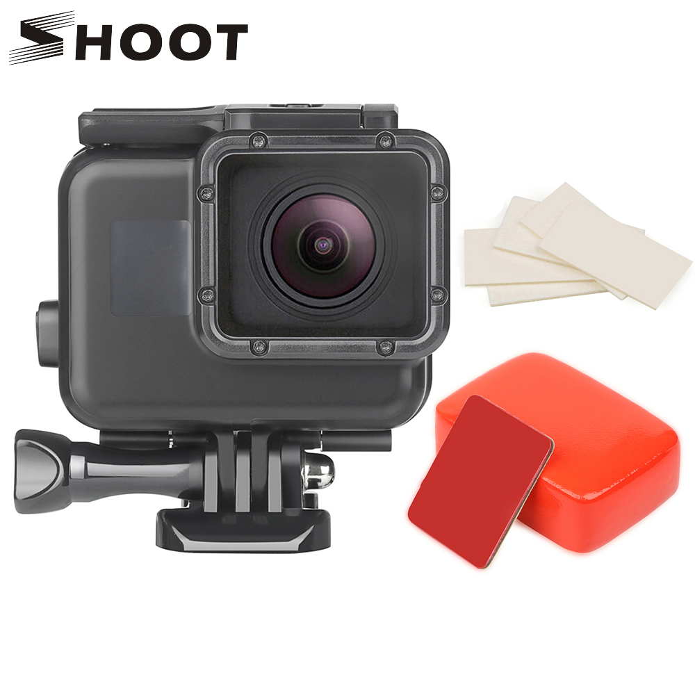 SHOOT 45M Underwater Waterproof Case For GoPro Hero 7 6 5 Black Sports Cam Surfing Diving Accessory For Go Pro Hero 7 6 5 Camera
