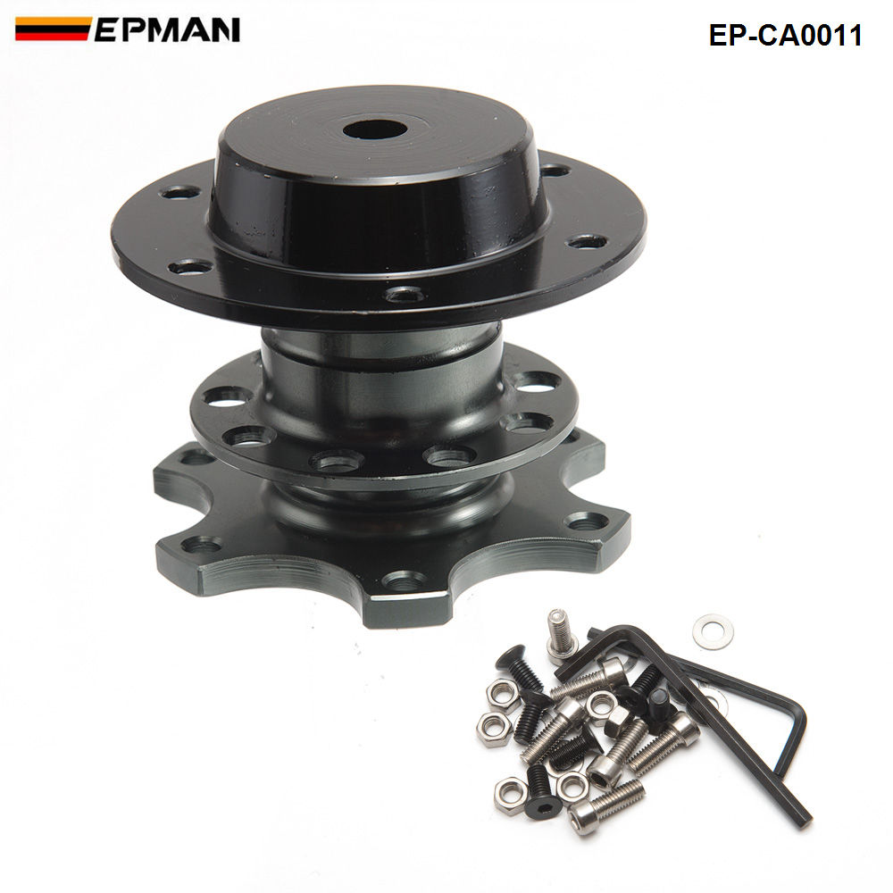 Быстроразъемный адаптер ступицы подходит для автомобильного спортивного рулевого колеса для сиденья 2001-2006 EP-CA0011G - Цвет: Titanium as Pic