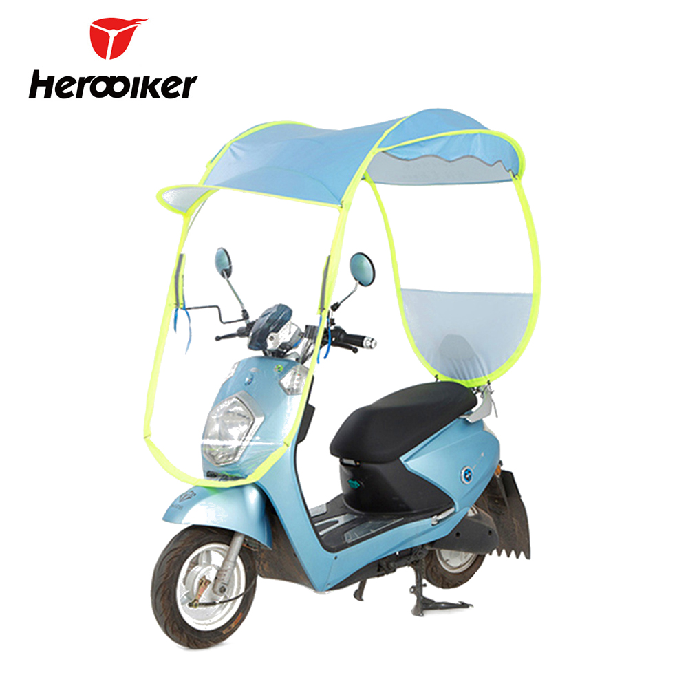Motorcycle Cover With Canopy : Electric umbrella motorcycle canopy motorbike roof motor