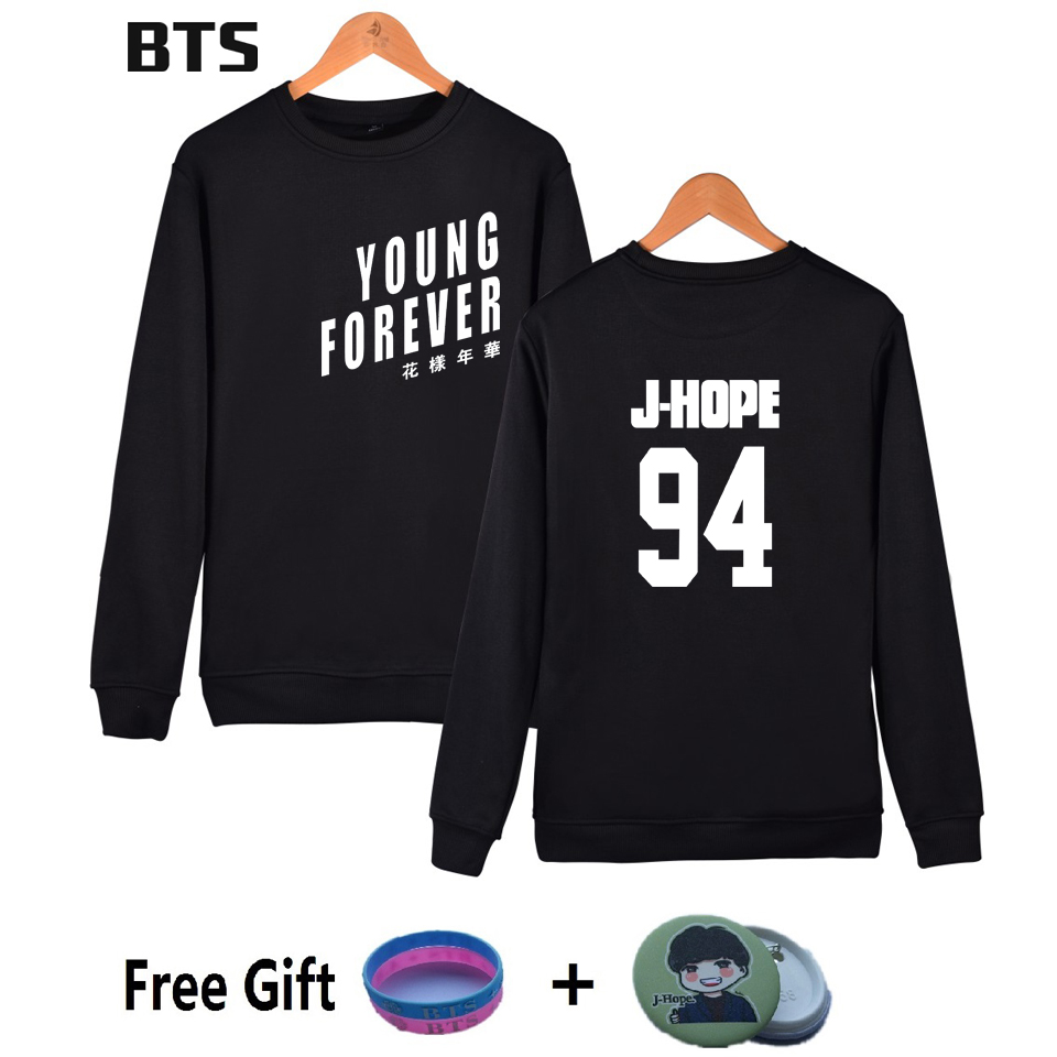 BTS Bangtan Boys Korean Sweatshirt Women Kpop Love Yourself Hoodies Streetwear Harajuku  ...